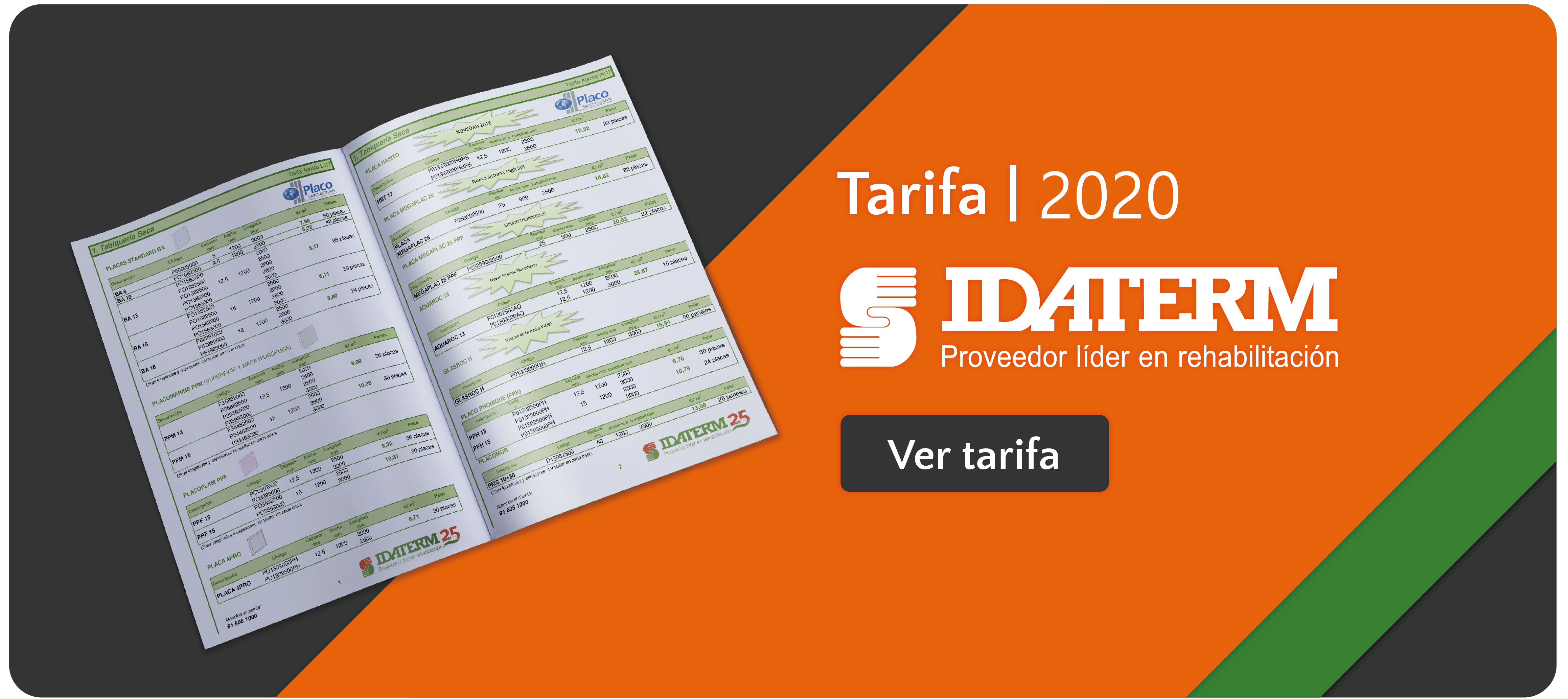 IDATERM TARIFAS 2019