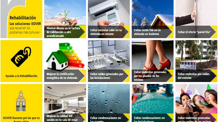 ISOVER lanza una nueva Aplicación on-line que permite seleccionar la solución de aislamiento térmico para rehabilitación más adecuada a los problemas comunes.