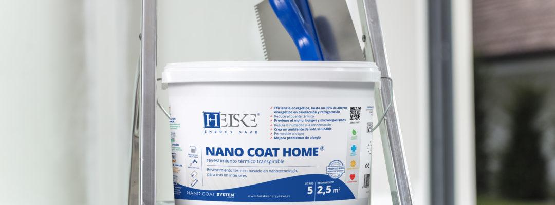 Sistema de revestimiento nanotecnológico interior NANO COAT HOME de Helske Energy Save.  Ya disponible en nuestros almacenes.